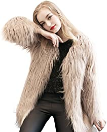 Amazon.com: Beige - Fur &amp Faux Fur / Coats Jackets &amp Vests