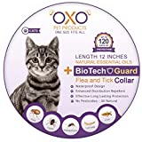 Dog Flea Treatment Collar - OXO PET PRODUCTS. Tick and Flea Collar For Cats. Natural Repellent With Essential Oils.