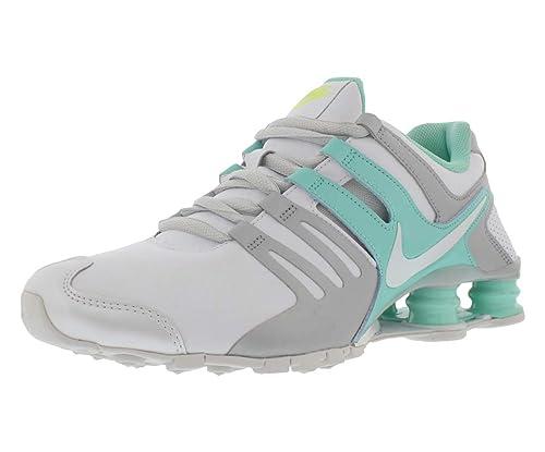 meet 3c0d2 48037 Nike Women s Shox Current White Teal Green Running Shoes Size US 6, Regular  Width
