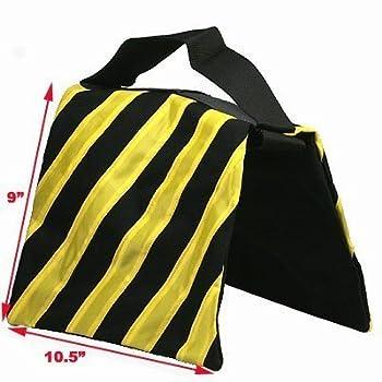 Studiofx Sandbag Sand Bag Saddlebag Design Weight Bags For Photo Video Studio Stand By Kaezi Photography (Yellow - 4 Pack) 1