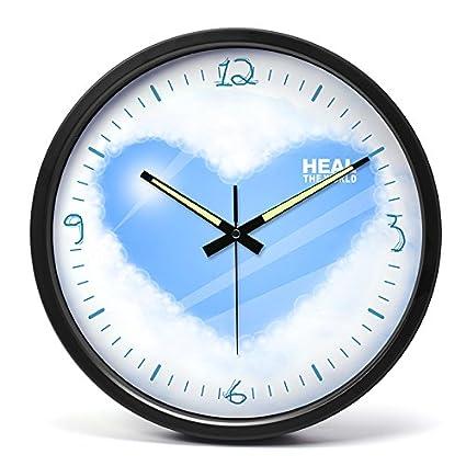 El silencio en el salón creativa reloj relojes personalizados reloj de pared Reloj de pared de
