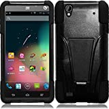 zte quartz protective phone case - ZTE Quartz Z797c (Straight Talk, Tracfone , Net 10) Case, C-cover ZTE Quartz Z797c Premium Durable Rugged Shell Hybrid Protective Phone Case Cover with Built in Kickstand (BLACK)