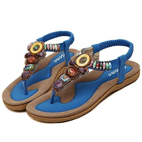 Zicac - Zapatos con tacón mujer Azul