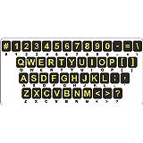 Sticker autocollant clavier alphabet lettre ordinateur macbook malvoyant