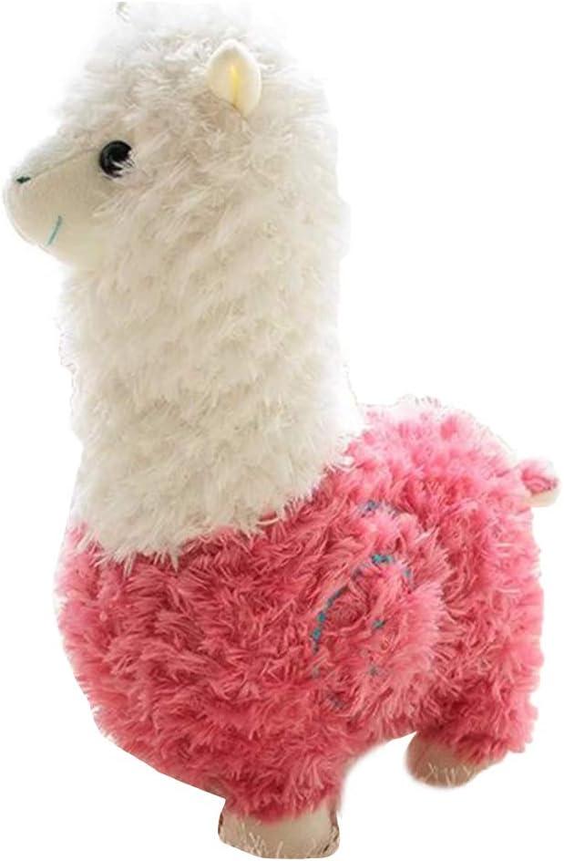 Scrox Alpaca Peluches Gigantes de Juguete Kawaii Almohada Suave de la Felpa Gatos Perros Muñecas Perezoso Blandos Juguetes Bebes Regalo (Rosa 45cm)
