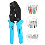 VAKOO Crimper Tool, Self-adjustable SN-28B Ratchet Wire Crimping Plier AWG 28-18 for Electrical Wiring Connection - Blue