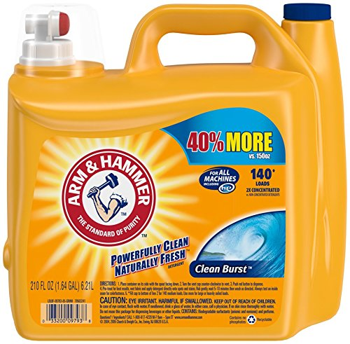 Arm & Hammer Laundry Detergent Liquid He, Clean Burst, 210 ()