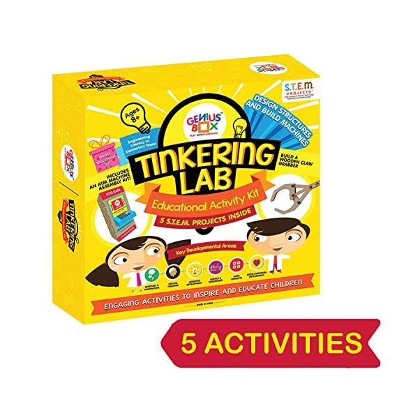 Genius Box Educational Toy for 8+ Year Age: Tinkering Lab DIY, Activity Kit, Experiment, Learning Kit, Educational Kit, STEM Toy