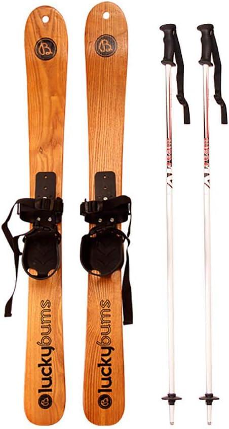 HECHEN Esquí De Madera Maciza-Ski Double Board-Trineo 110Cm125cm Snowboard Juego De Mesa Doble,110CM: Amazon.es: Deportes y aire libre