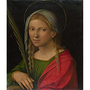 The Perfect Effect Canvas Of Oil Painting 'Italian, Ferrarese - Saint Catherine Of Alexandria,probably 1515-30' ,size: 20x23 Inch / 51x59 Cm ,this Reproductions Art Decorative Prints On Canvas Is Fit For Study Artwork And Home Gallery Art And Gifts