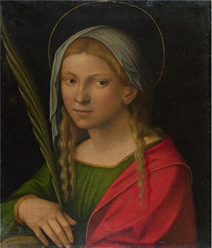 The Perfect Effect Canvas Of Oil Painting 'Italian, Ferrarese - Saint Catherine Of Alexandria,probably 1515-30' ,size: 30x35 Inch / 76x89 Cm ,this Amazing Art Decorative Canvas Prints Is Fit For Basement Gallery Art And Home Gallery Art And Gifts (Oz Park Chicago Halloween)
