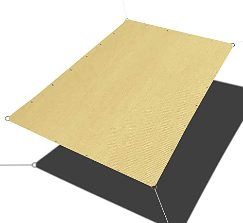 Alion Home Straight Edge Shade Sails – Sun Shade Sail – Rectangle Sunshade for Patio, Pergola, Carport, Awning,Barn,Kennel – UV Sun Block Shade Cloth with Grommets 14 x 26 FT, Sand