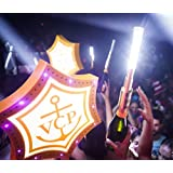 LED STROBE BATON TOPPER Bottle Service Sparkler for Vip Nightclubs Led Sparklers Bottle Baton 10PACK -Silver Case--
