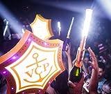 LED STROBE BATON TOPPER Bottle Service Sparkler for Vip Nightclubs Led Sparklers Bottle Baton 2PACK -ROSE GOLD Case--