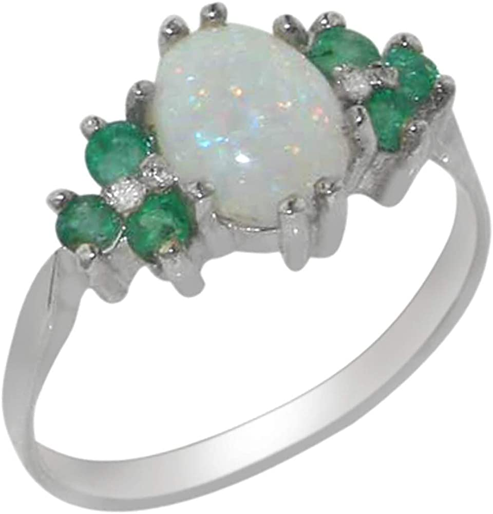 Sterling Silver Single stone Emerald Ring 925 silver Oval cut Emerald size 9