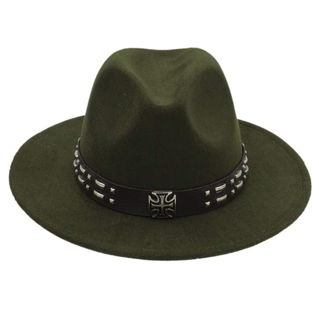 Unisex Wide Brim Fedora Hat Steampunk Belt Trilby Hat Lightweight Sun Hat