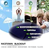NICETOWN Blackout Bathroom Window Curtain - Tie