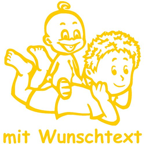 Motiv G7-JJ Babyaufkleber Autoaufkleber f/ür Geschwister mit Wunschtext 16 cm