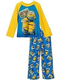 Minions New York City Boys Fleece Pajama Set, Sizes 4-10