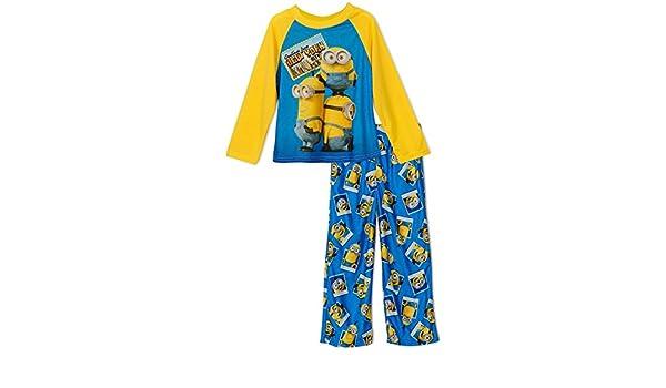 MINIONS - Pijama dos piezas - para niño Amarillo amarillo: Amazon.es: Ropa y accesorios