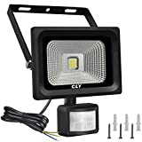 Cly LED Outdoor Floodlight, 10W PIR Security Light with Motion Sensor 900 Lumen Ip 65 Waterproof, 60W Halogen Lights Equivalent Replacement, Daylight White Outdoor Security Lights (Update 10W)