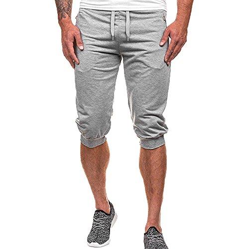 Cerniera uomo Tasca Casual Sport Pantaloni Grigio Coulisse Paolian Estate Colore Pure Pantaloncini Corti gxZYqY