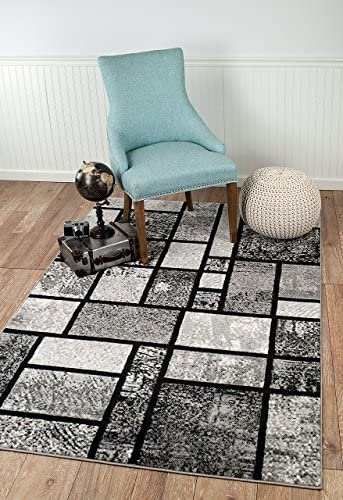 Summit CHM 4 X 5 213 040 New Grey Geometric Area Rug Modern Abstract Many Available , 5 X7 ACTUAL SIZE IS 4 .10 X 7 .2