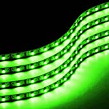 Kyпить Zone Tech 30cm LED Car Flexible Waterproof Light Strip GREEN (pack of 4) на Amazon.com