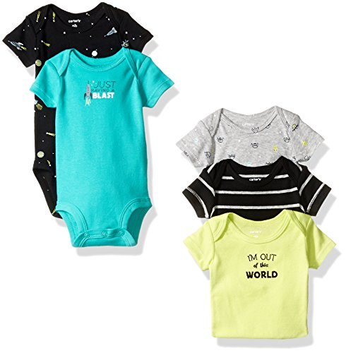 Carters Baby 5 Pack World Bodysuits