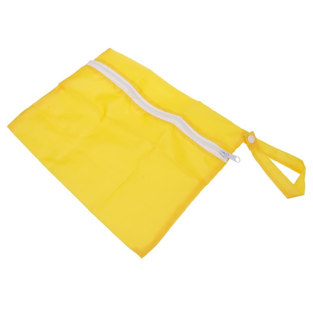 VANKER Bebe impermeable Lavable suciedad paño bolsa de pañal Organizador Almacenamiento Bolsa -- Amarillo