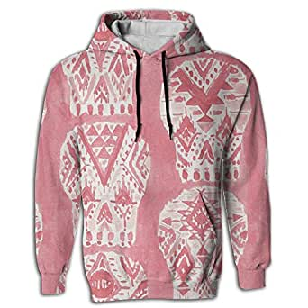 Mens 3D Digital Printing Hoodies Sweatshirts Pockets All Over Print Sweaters Happy Halloween Pink Skull Men 3d Printed Drawstring Pockets Pullover Hoodie Hooded Sweatshirt
