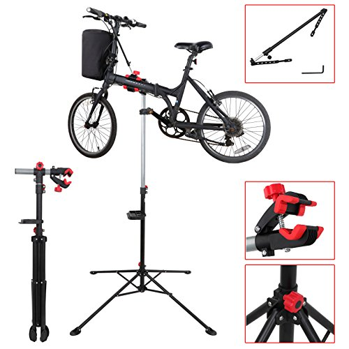 LEMY Pro Mechanic Bike Repair Stand Rack Adjustable 42.5'' to 74'' Workstand With Tool Tray, Telescopic Arm Cycle by LEMY