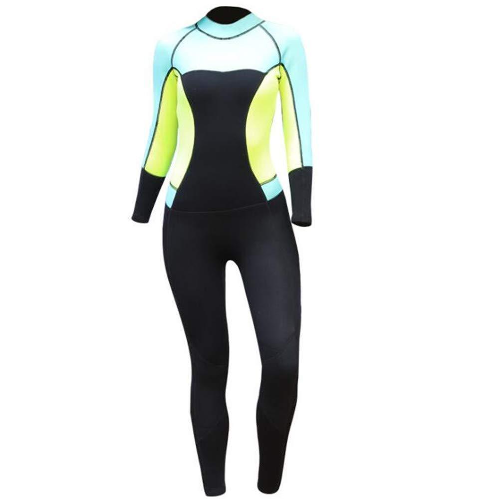 ウェットスーツの女性3ミリメートル水泳サーフィンシュノーケリングロングスリーブ保温ゴム+ナイロン B07PH6GLTY XX-Large  XX-Large