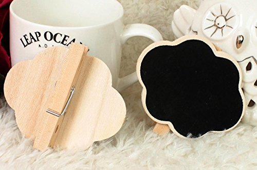 (Saitec ® New hot 12 X Mini Chalkboard Wooden Peg Clip Wedding Party Cloud Shape Blackboard)