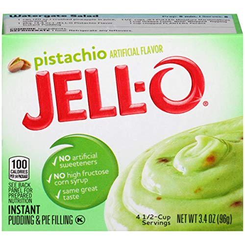(JELL-O Instant Pistachio Pudding & Pie Filling Mix (3.4 oz Boxes, Pack of 24))