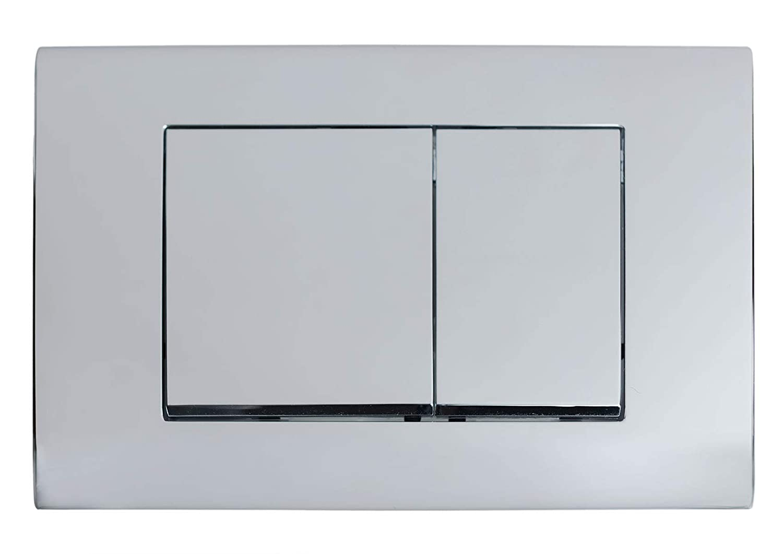 FlushPlates.com Flush Plate fits Geberit Sigma Cistern UP320, UP720 Chrome Square