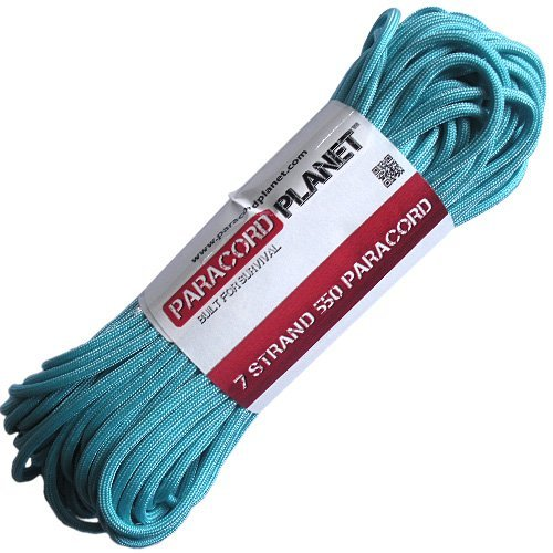 Paracord Planet 100' 550lb Type III Turquoise ()