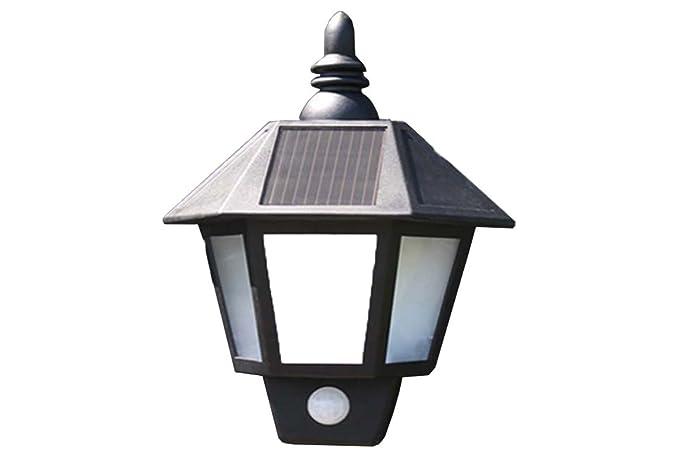 Nero ad energia solare da parete da movimento attivato sicurezza