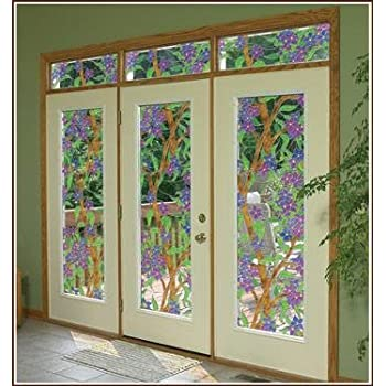 Amazon Com Biscayne See Thru Stained Glass Decorative