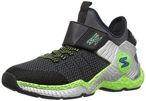 Black Cosmic Socks - Skechers Kids Boys' Cosmic Foam II-97505L Sneaker,BLACK/CHARCOAL/LIME,12.5 M US Little Kid