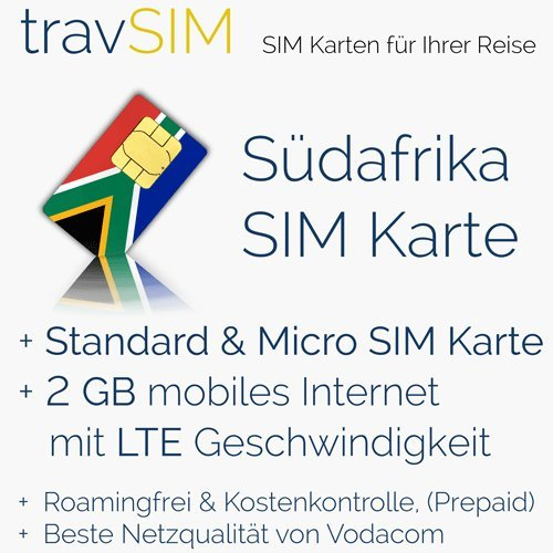 Tarjeta SIM para Sudáfrica (Tel/SMS/datos) - Standard ...
