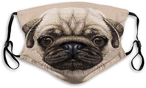Mondbescherming mondbescherming gezichtsbedekking gedetailleerde portrettekening van een hond realistisch design van het huisdier digitale kunst gezichtsdecoraties