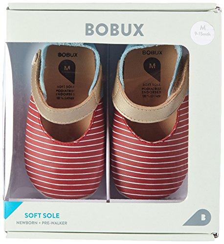Bobux Baby Jungen Mary Jane Rot + Weiß Slipper Rot (Rot)