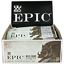 Epic All Natural Meat Bar, 100% Wild, Boar with Uncured Bacon, 1.5 ounce, 12 Count