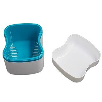 Amazon com : New Denture Bath Box Case Dental False Teeth