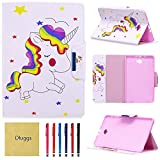 Samsung Galaxy Tab A 10.1 Case, T580 Case, Dluggs Ultra Slim Fit PU Leather Folio Stand Case with Auto Sleep/Wake Feature Galaxy Tab A 10.1 Inch Tablet SM-T580 T585, Unicorn