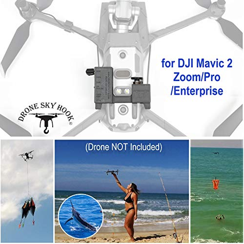 Professional Release and Drop Device for DJI Mavic 2 Zoom/Pro/Enterprise, for Drone Fishing, Bait Release, Payload Delivery, Search & Rescue, Fun Activities by Drone Sky Hook (Fishing Bait Launcher)