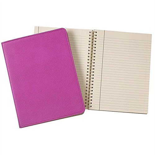Wire-O-Notebook 9in Orchid Fine Leather by Graphic Image™ - 7x9 by Graphic Image