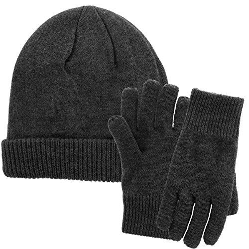 ... DG Hill Mens Winter Hat And Gloves Set with 3M Thinsulate fleece  lining 4e15b346235