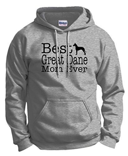 (ThisWear Dog Lover Gift Best Great Dane Mom Ever Hoodie Sweatshirt Medium Ash)